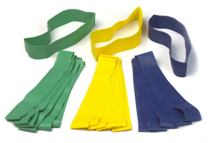 Picture of MINI FLAT BANDS PACK OF 10 LIGHT RESISTANCE - Yellow
