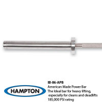 7' International Bronze Bushing American Made Power Bar 1500 lb test – 28mm – 185,000 psi rating