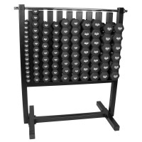 Neoprene Black Dumbbell 86 PC Kit with Rack