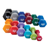 VINYL COLORED DUMBBELL SET
