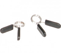 Olympic Chrome EZ-on Collars with Rubber Grips