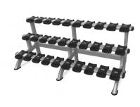 Instinct® Triple Dumbbell Rack Model 9NP-R8011 (10-PAIR/3-TIER)